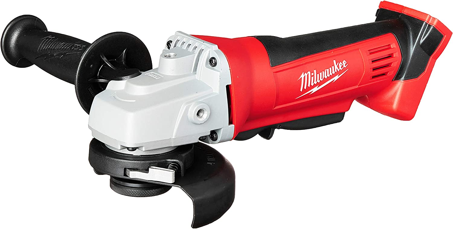 Milwaukee 2680-20 M18 18V Lithium Ion 4 1 2 Inch Cordless Grinder with Burst Resistant Guard and Paddle Switch Design