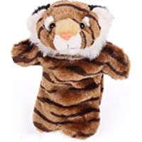 YingBo-AU Kid Loved Gift Kid Plus Hand Puppets Farm Animals Zoo Learning Dark Brown Tiger
