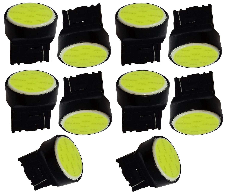AERZETIX - 10 x lampadine 12V T20 7440 W21W W3x16D 12 LED SMD COB con effetto Xenon bianco . SK2-C12205-B130