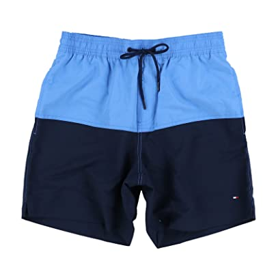 c9ed6e7b8235f TOMMY HILFIGER Mens Colorblock Swim Trunks (X-Large, Blue): Amazon ...