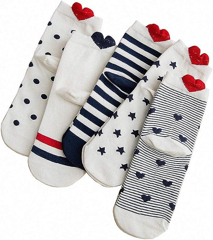 5 pairs of Girls Hearts Trainer socks