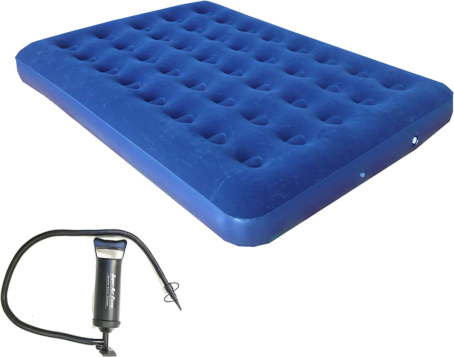 Zaltana Twin Size Air Mattress with Double Action Hand Pump Including 3 valves