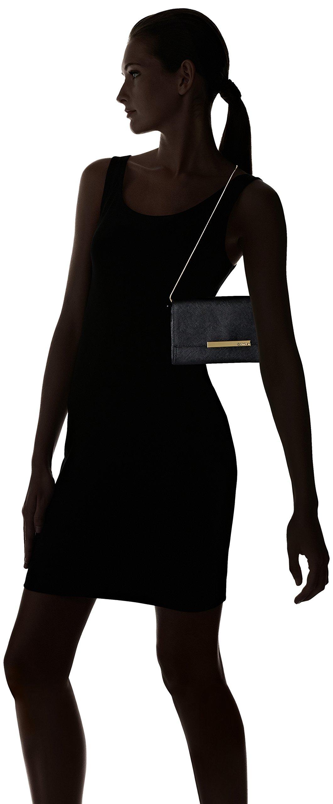 Calvin Klein Evening Saffiano Clutch, Black/Gold by Calvin Klein (Image #6)