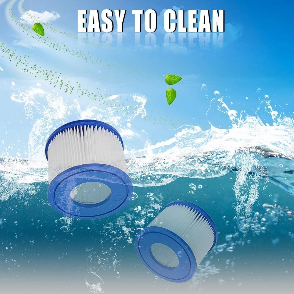 Hot Tub 2 Filters Blue Miami Replacement Filter for Bestway Filter Cartridge VI for Swimming Pool Vegas Globalstore Pool Filter Palm Springs Monaco