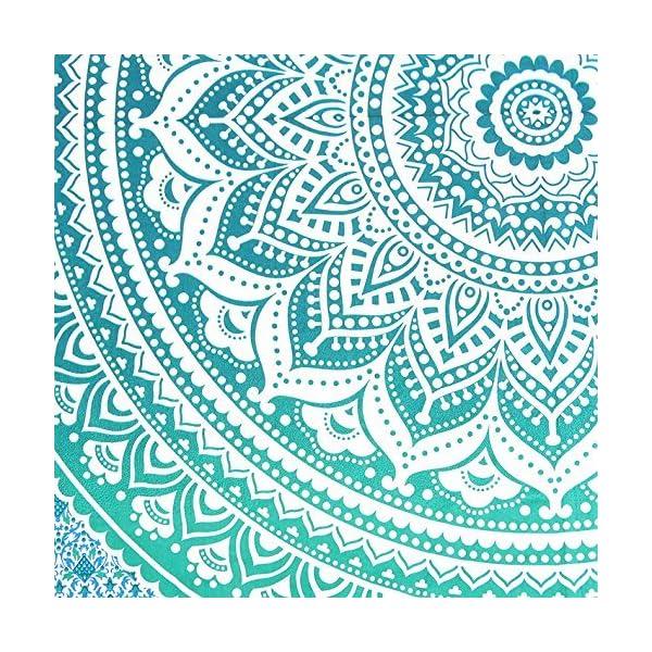 Aakriti Gallery Tapestry Regina Verde Ombre Hippie Arazzo Mandala Bohemian Psichedelico intricato Indiano copriletto 233… 3 spesavip