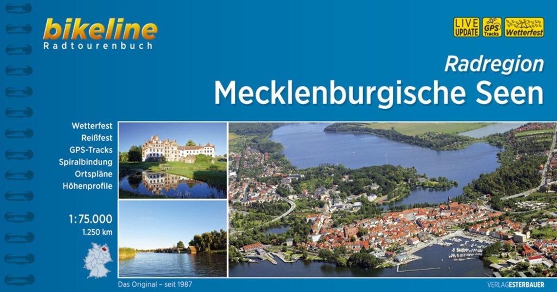 Bikeline Mecklenburgische Seen: Radtourenbuch und Karte. Ein original bikeline-Radtourenbuch, 1:75.000, 1200 km, wasserfest/reißfest, GPS-Tracks-Download Spiralbindung – 11. August 2016 Esterbauer wasserfest/reißfest 3850003639 Deutschland