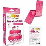 Scrapcooking 3949 Dentelle Kit Silicone Rose 21 x 11,5 x 4 cm