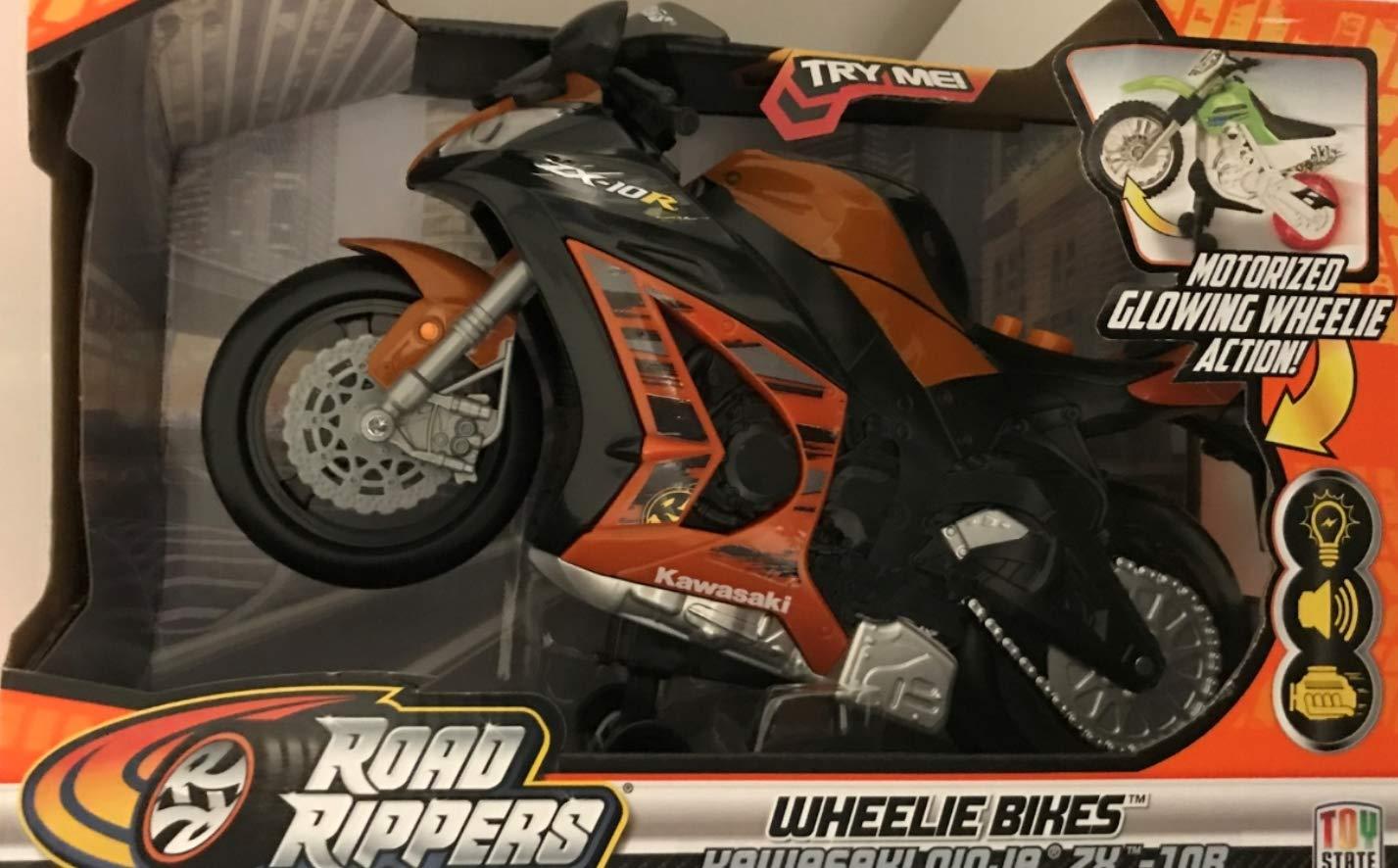 Amazon.com: Toy State Road Rippers Wheelie Bikes Kawasaki ...