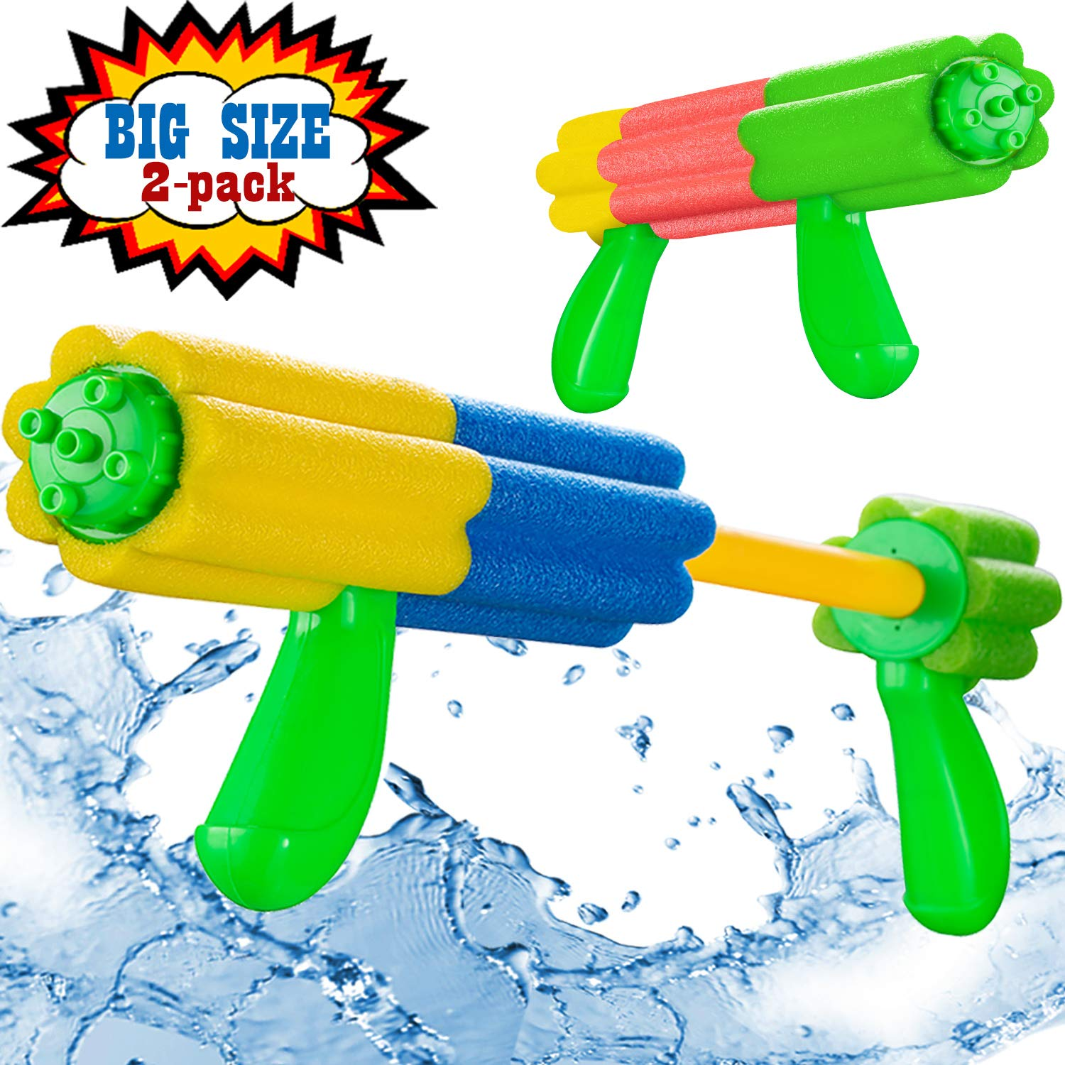 Aouker Water Blaster Gun Foam Soaker Water Pump Shooter, Light Weight Swimming Pool Beach Water Fighting Toys