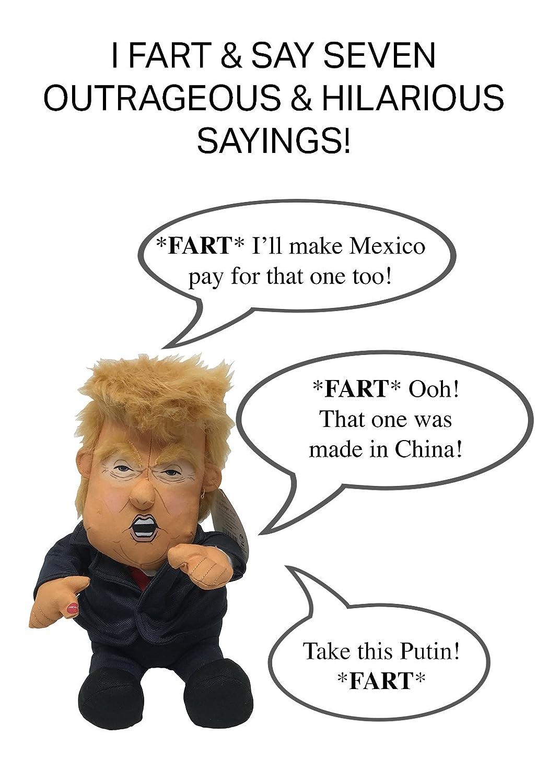 Amazon Com Pull My Finger Farting Donald Trump Plush Figure Doll