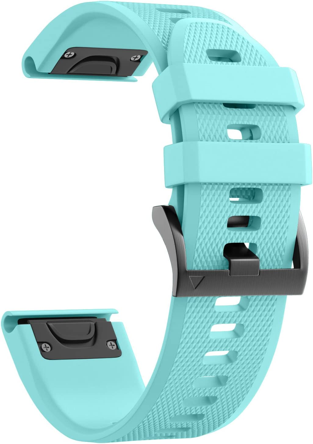 ANCOOL Compatible with Fenix 5 Band Easy Fit 22mm Width Soft Silicone Watch Strap Replacement for Fenix 5/Fenix 5 Plus/Forerunner 935/Approach S60/Quatix 5 - Mint