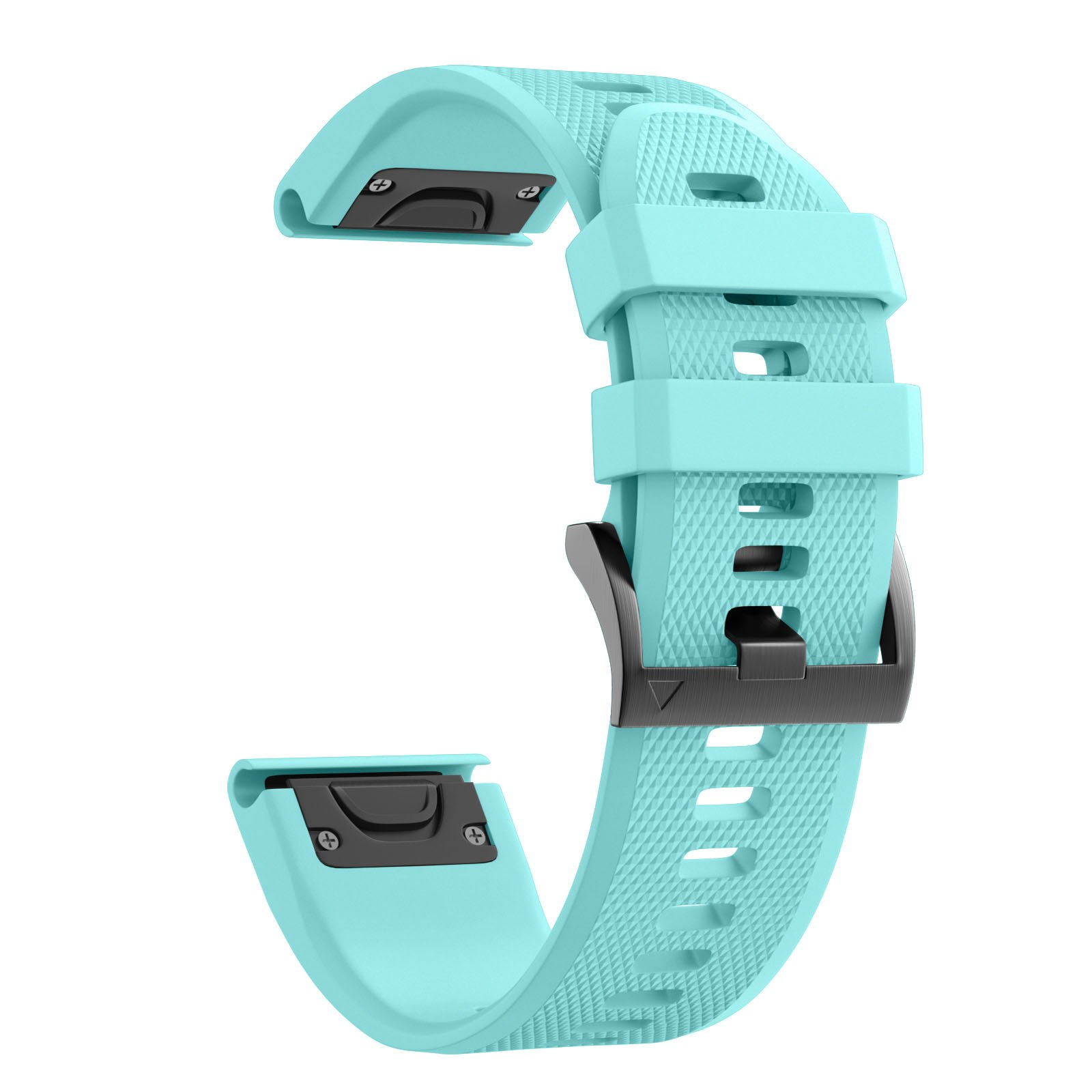 ANCOOL Compatible Garmin Fenix 5 Band Easy Fit 22mm Width Soft Silicone Watch Strap Compatible Garmin Fenix 5/Fenix 5 Plus/Forerunner 935/Approach S60/Quatix 5 - Mint