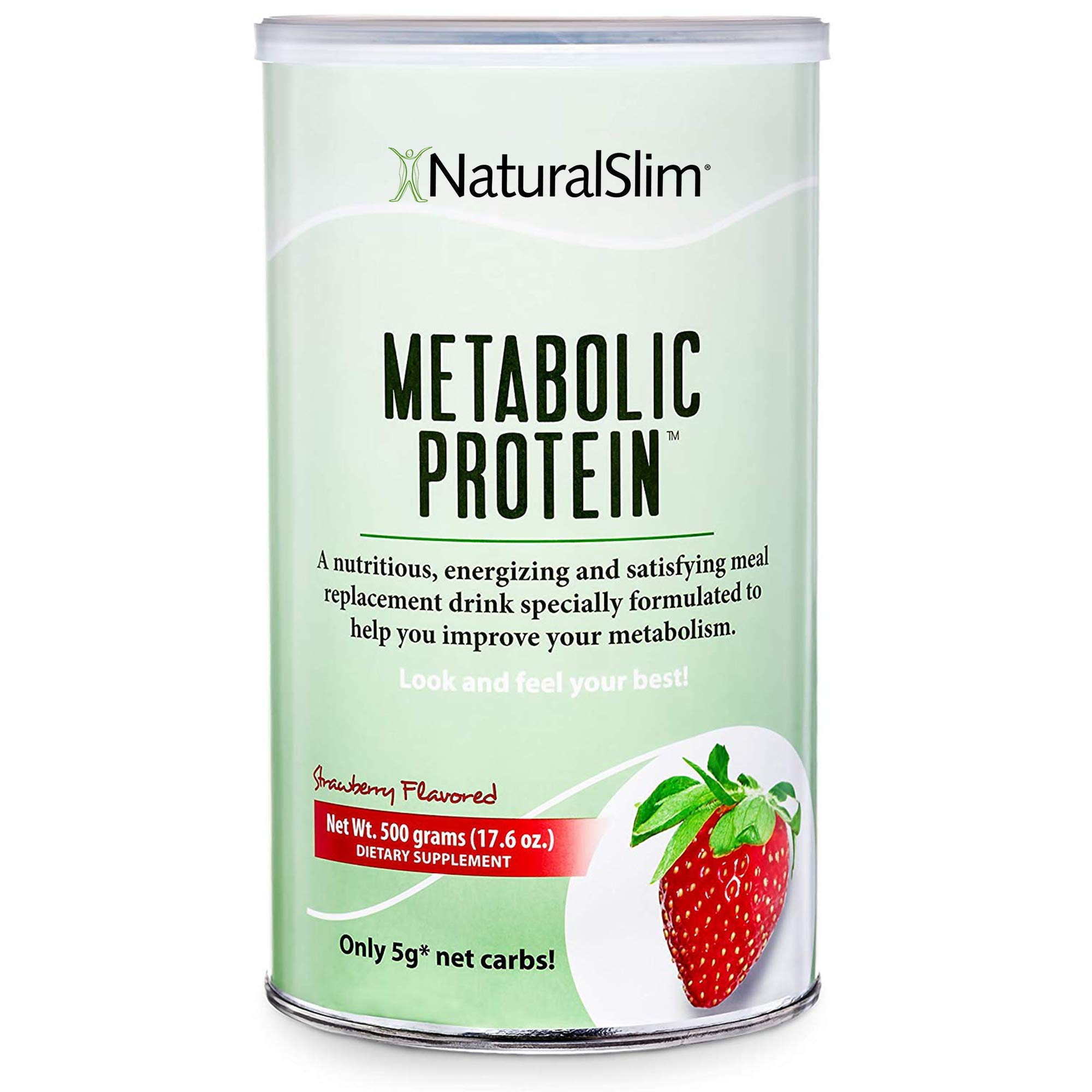 NaturalSlim Meal Replacement Whey Protein Shakes, Natural Aid for a ''Slow Metabolism'' with Ingredients to Suppress Appetite and Start of Your Day Burning Fat- Great Taste and Very Filling (Strawberry) by RelaxSlim