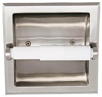 Design House 539189 Millbridge Recessed Toilet Paper Holder Satin