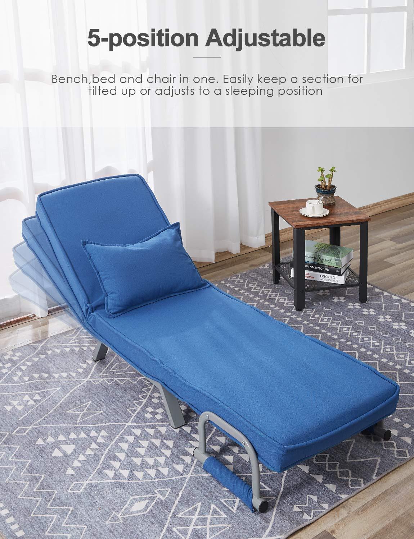 Amazon.com: Kealive - Sofá cama plegable con brazo, sofá ...