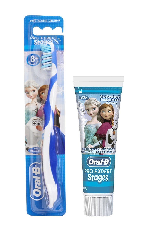 Set de 2 - Frozen de Oral-B Pro-Expert Cepillo de dientes & Pasta de dientes (frutas Burst) Set: Amazon.es: Salud y cuidado personal