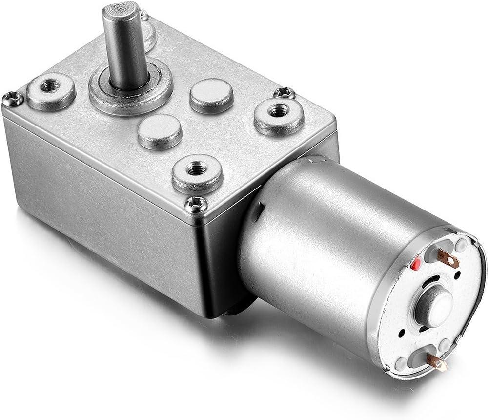 uxcell DC 12V 38RPM Worm Gear Motor 6mm Female Shaft High Torque Turbine Reducer