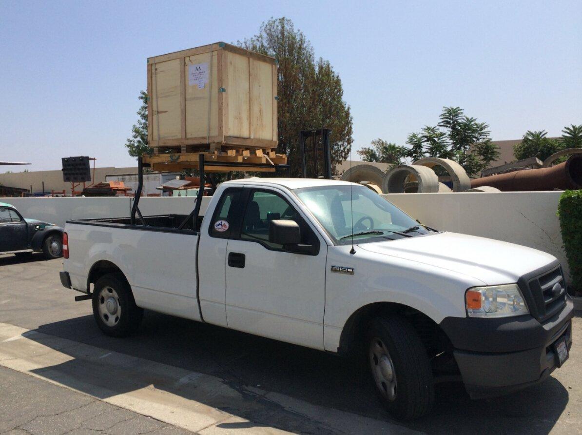 AA-Racks Model X35 800Ibs Capacity Extendable Steel Pick-Up Truck Ladder Rack Two-bar Set Matte Black