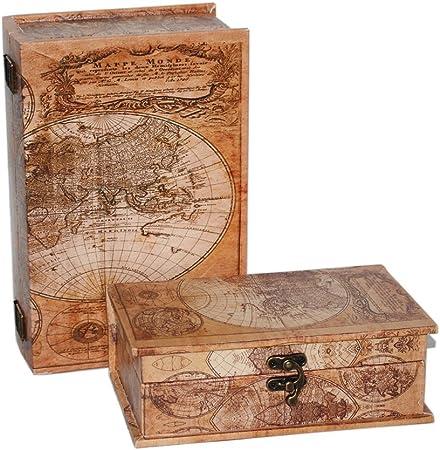 Modo Home caja piel libro forma de madera caja decorativa de ...