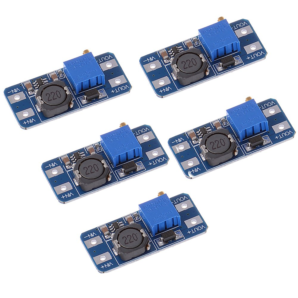 Anmbest 5pcs Mt3608 Step Up Adjustable Dc Switching Modul Micro Usb 2a To 2v 28v Boost Converter Power Supply Module 2 24v 5v Industrial Scientific