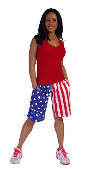f86306311650 Crazee Wear American Flag Shorts at Amazon Men s Clothing store ...