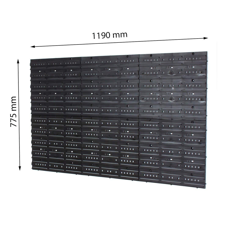 Juego de 48 S y 36 m el TAMA/ÑO EN-Box de almacenaje y de pared wooddoor