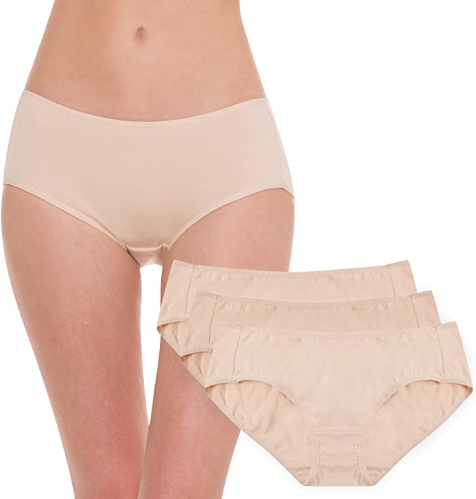 Hesta Rael - Ropa interior de algodón orgánico para mujer, 3 unidades: Amazon.es: Ropa y accesorios
