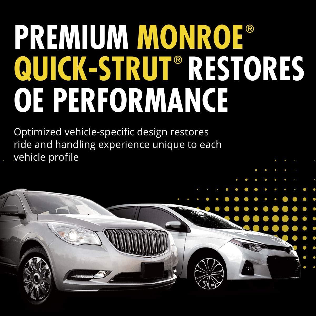 Monroe Shocks /& Struts 172728 Monroe Quick-Strut Complete Strut Assembly Suspension Strut and Coil Spring Assembly