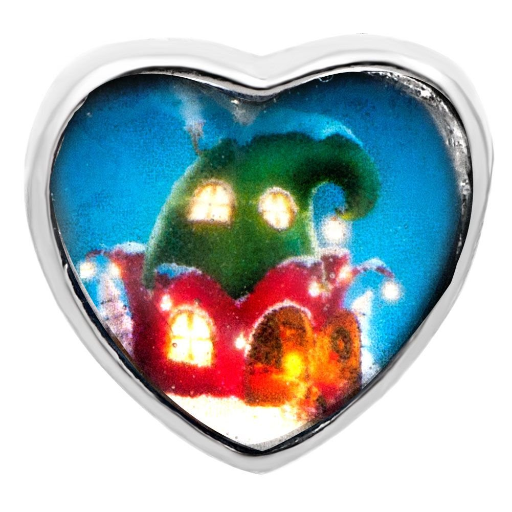 NEONBLOND Custom Charm I Heart Love My Colorer 925 Sterling Silver Bead
