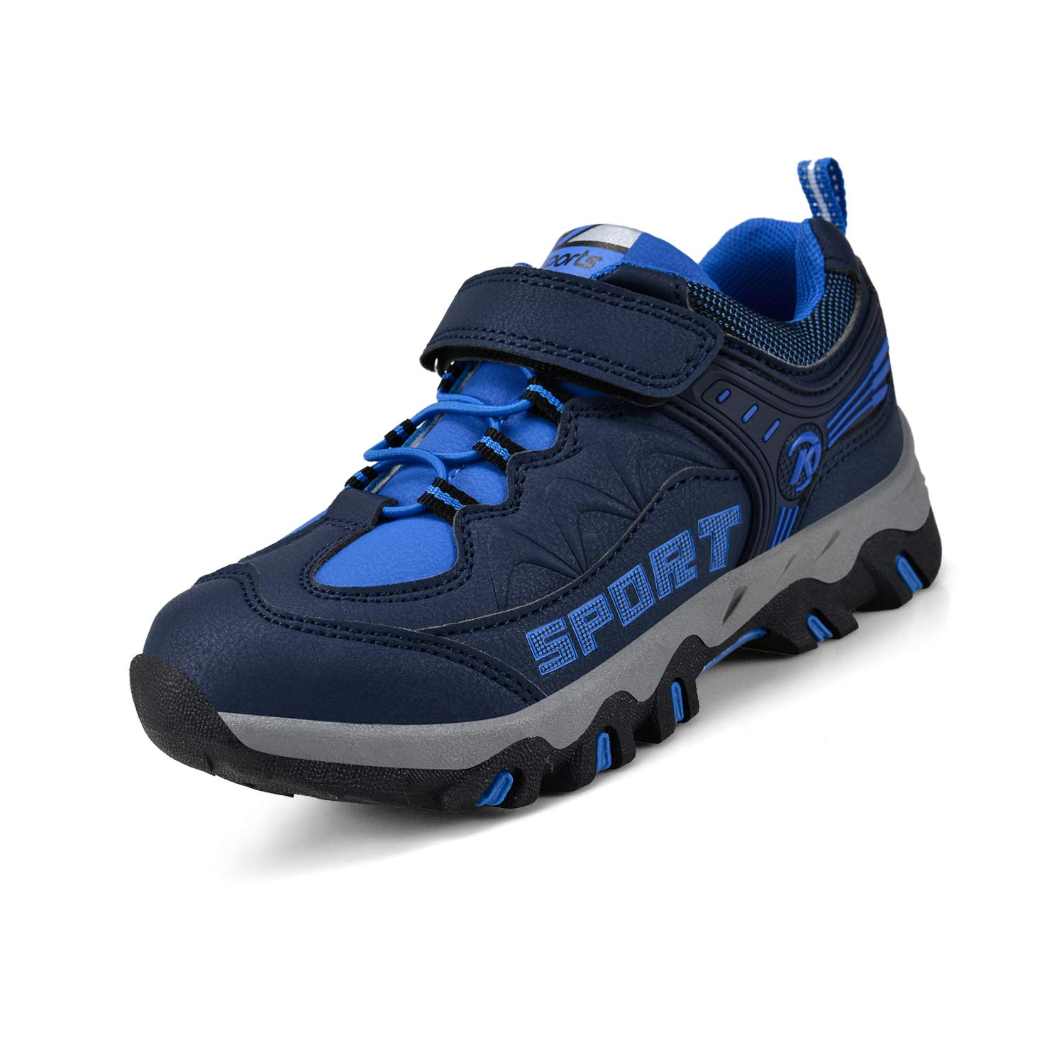 Nyznia Toddler Hiking Shoes Outdoor Youth Walking Running Shoes Pure Blue 1 US Little Kid by Nyznia (Image #1)