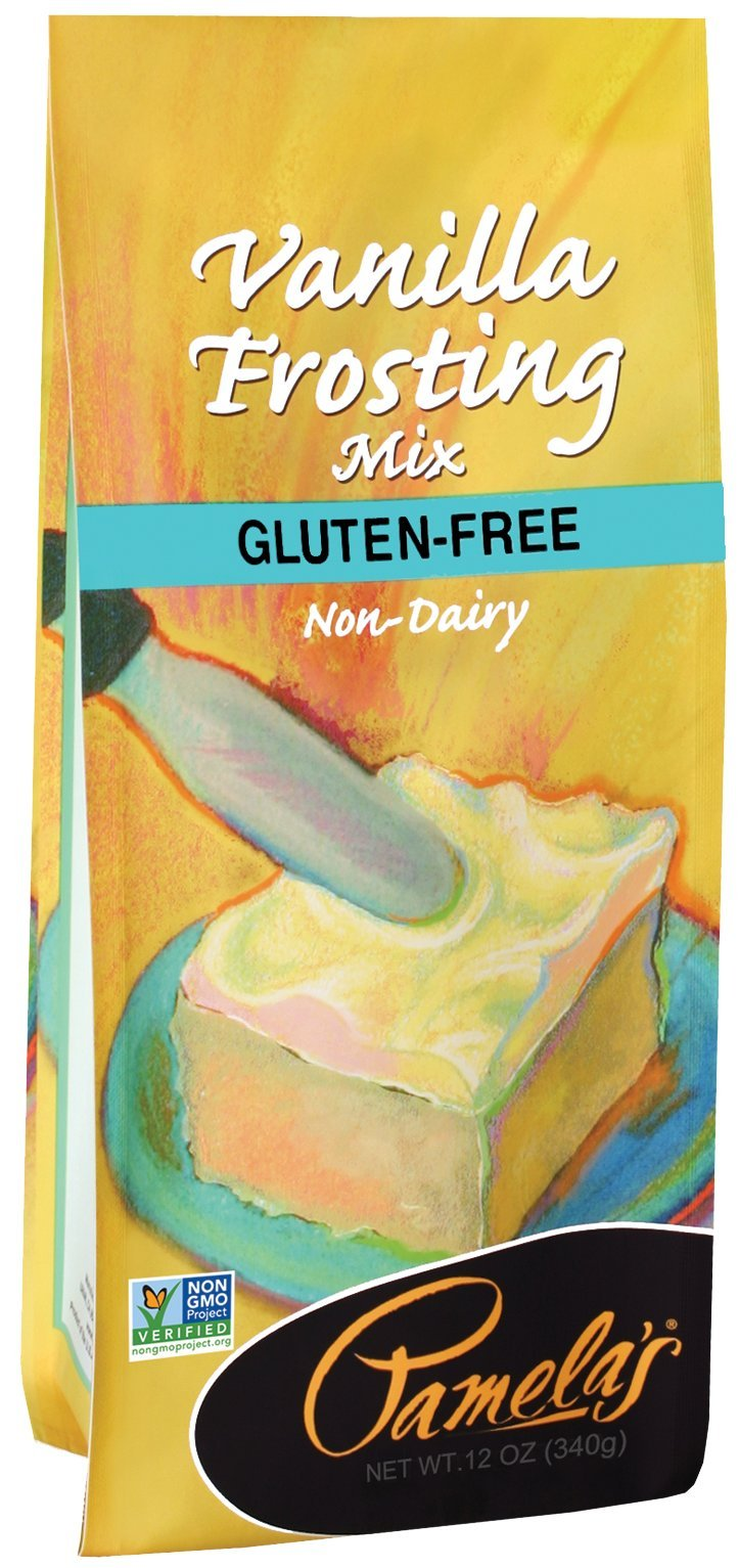 Pamela's Products Gluten Free Frosting Mix, Vanilla, 12-Ounce Bags (Pack of 6)