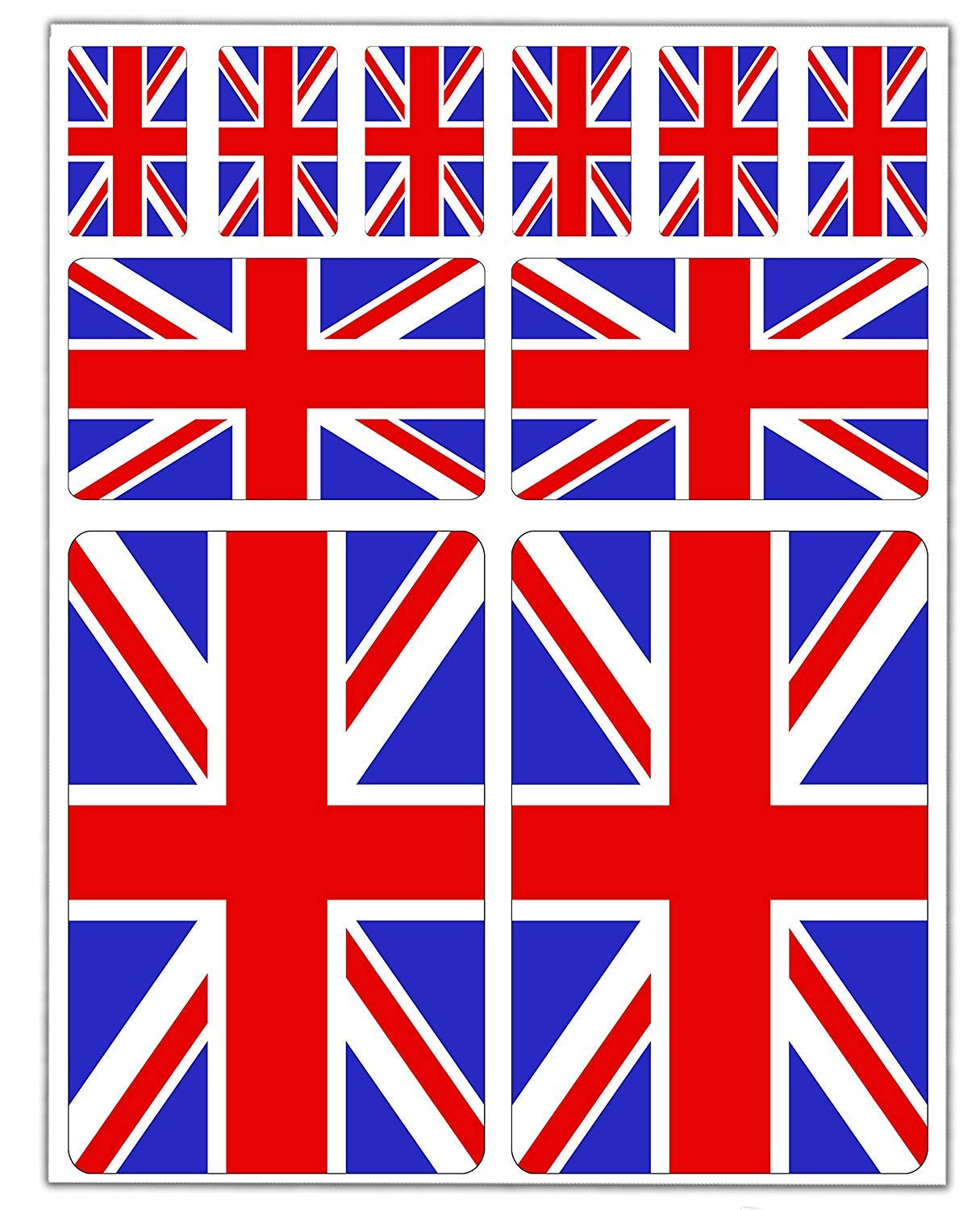 10 x Vinyl Stickers Set Decals UK Union Jack National Great Britain Flag Car Motorcycle Helmet D 24