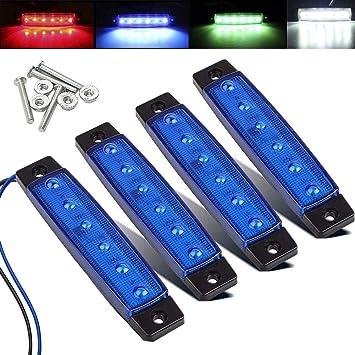 Justech 4 x Luci Laterali a LED Impermeabile e Antiurto Luci di Posizione 12V//24V Indicatori di Posizione Colore Bianco Universale per Rimorchio Camion Caravan Camper E-mark