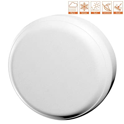 "Valleycomfy Waterproof Spare Tire Cover Protector- Universal Fit Tire Covers,Wheel Diameter 25"" - 27"",Suit for Jeep, Trailer, RV, SUV, Truck and Many Vehicle (White, 14inch): Automotive"