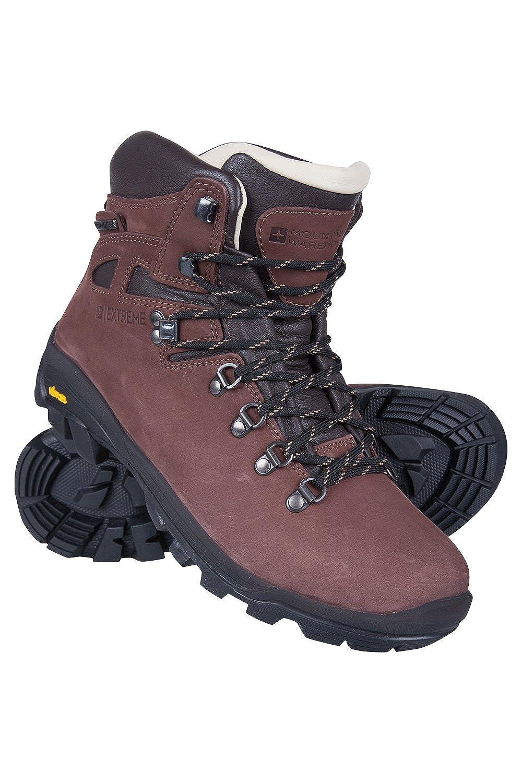 Mountain Warehouse Excalibur Wasserfeste Stiefel für Herren - Atmungsaktiv, Obermaterial Leder, Wanderstiefel mit Vibram-Sohle, antibakteriell - Für Reisen und Wandern