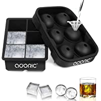Ice Cube Trays Large, Silicone Ice Cube Tray Big Ice Cubes for Whiskey Ice Tray Ice Ball Maker Sphere Ice Mold- Large…