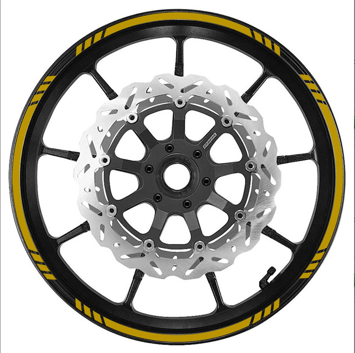 Cars Trucks Vehicleartz Gold Wheel Rim Tape Speed Graduated Stripe fit All Makes of Motorcycles