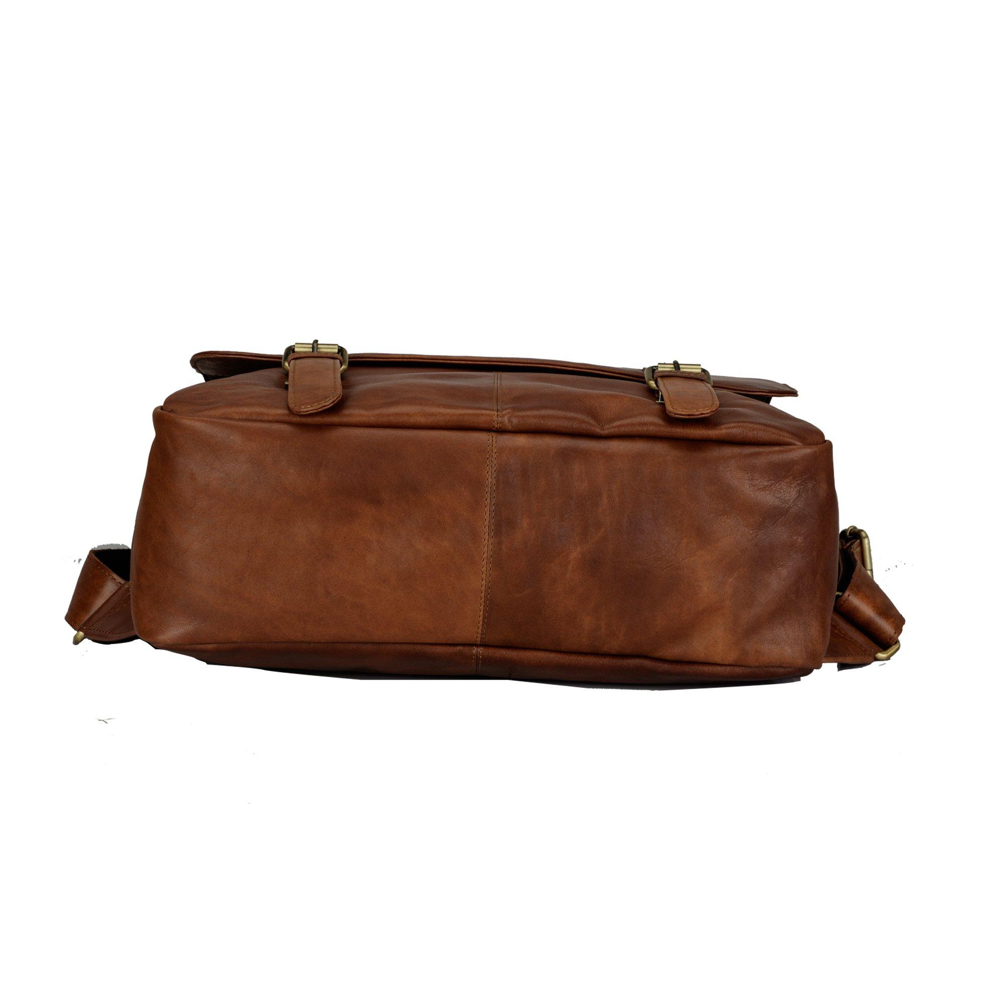 Finelaer Vintage Brown Laptop Backpack Daypack Rucksack Travel Hiking Bag Men Women by FINELAER (Image #5)