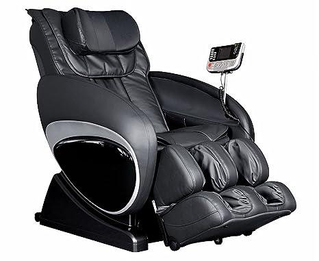 6027 Robotic Zero Gravity Heated Reclining Massage Chair Upholstery: Black
