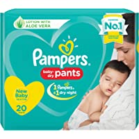 Pampers New Diapers Pants, X-Small, 20 Count