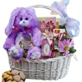 Art of Appreciation Gift Baskets My Special Easter Gift Basket with Purple Plush Bunny Rabbit