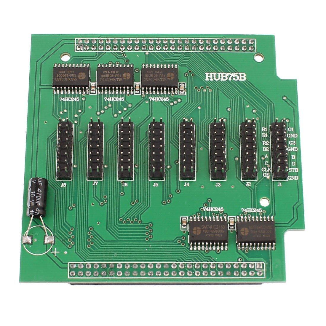DealMux Pantalla LED de Pantalla Dual 50pin Puerto del convertidor del Consejo HUB75B DLM-B01B5QSK2M