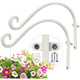 AJART Plant Hooks for Wall (2 Pieces - 12Inches) Wall Hooks for Hanging Plants More Stable and Sturdy Cream-White Plant Hook