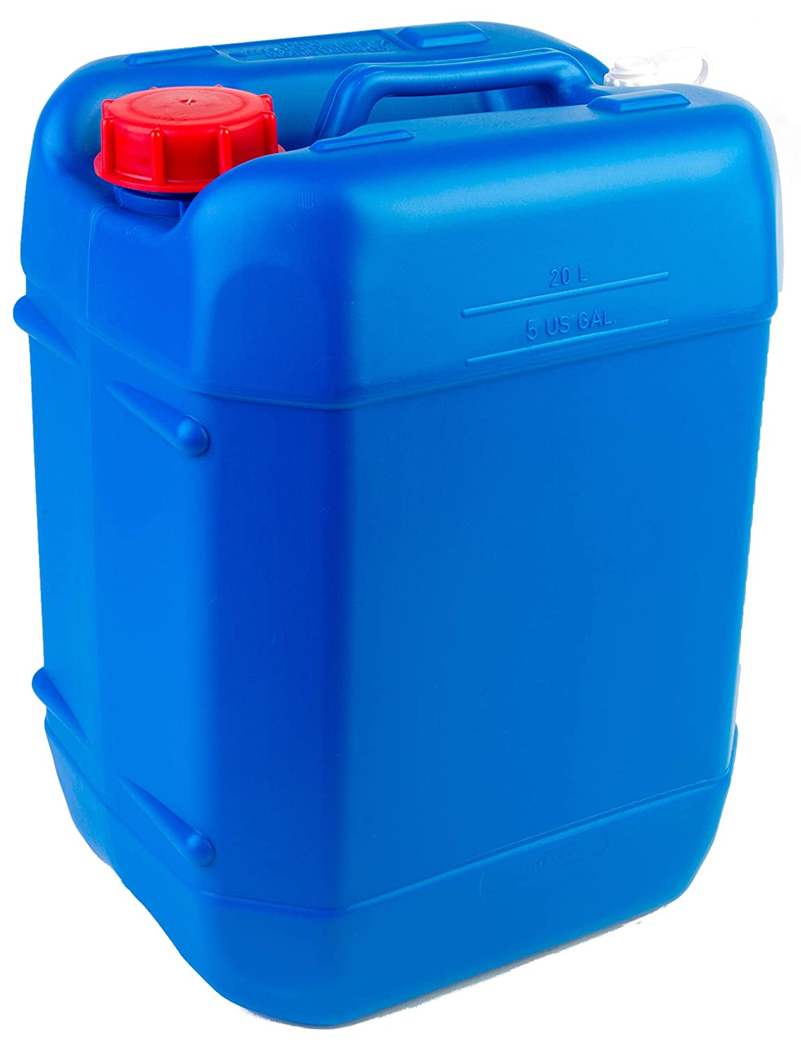 Hudson Exchange - 3012+1120 5 Gallon (20 Liter) Handled Container with Cap, HDPE, Blue