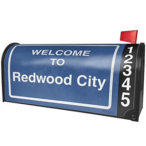 Amazon com: NEONBLOND Sign Welcome to Redwood City Magnetic