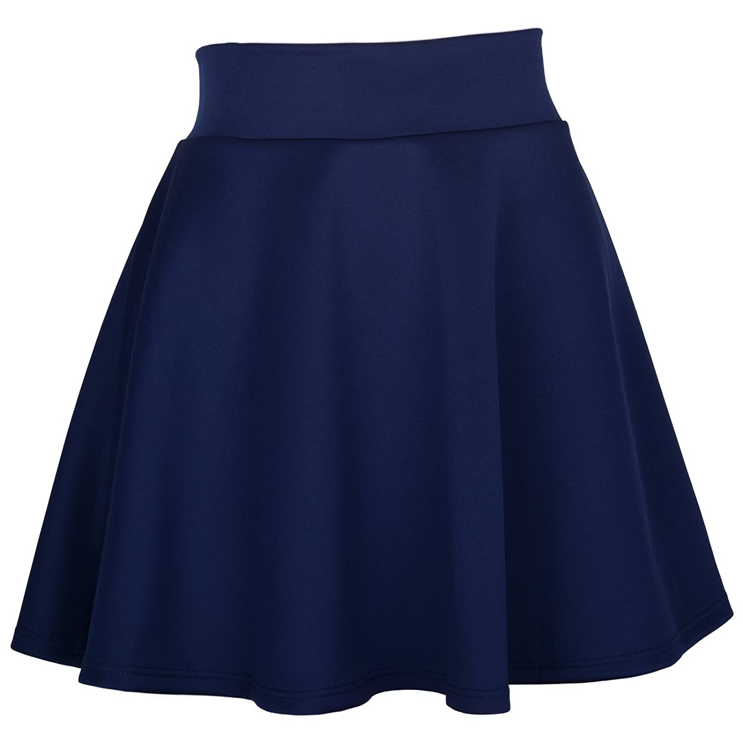 Womens Basic Solid Color Flared Skater Skirt at Amazon Women's ...