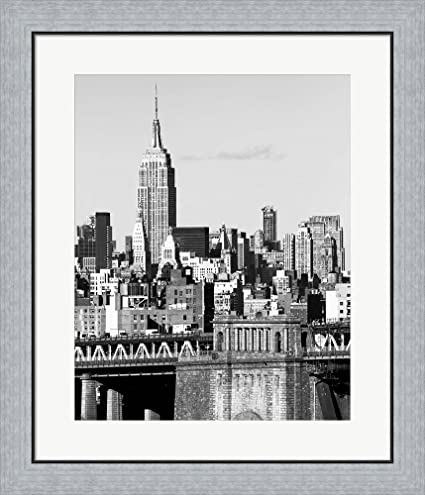 Amazon.com: NYC Skyline II by Jeff Pica Framed Art Print Wall ...