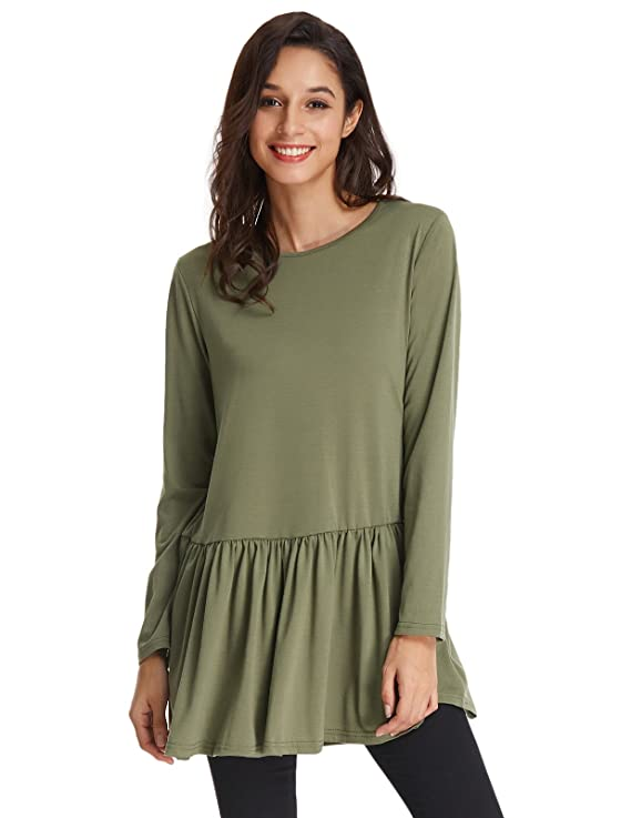 Women Work Casual A-Line Pleated Midi Dress Size S Army Green