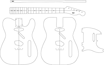 Amazon.com: Electric Guitar Layout Template - teley: Musical ...