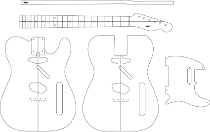 amazon com electric guitar routing template teley musical